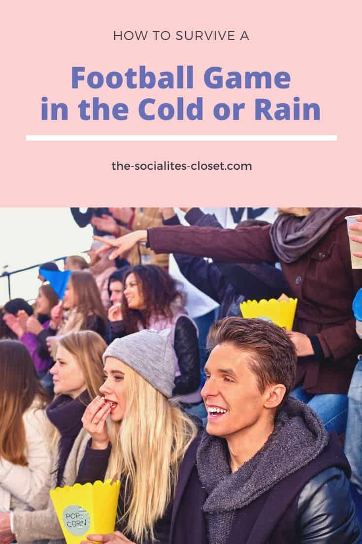 How to Survive A Football Game In The Cold or Rain #Football #GameDay #BigGame